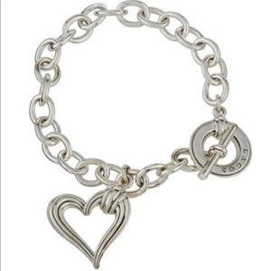Lagos Fluted Charm Heart bracelet